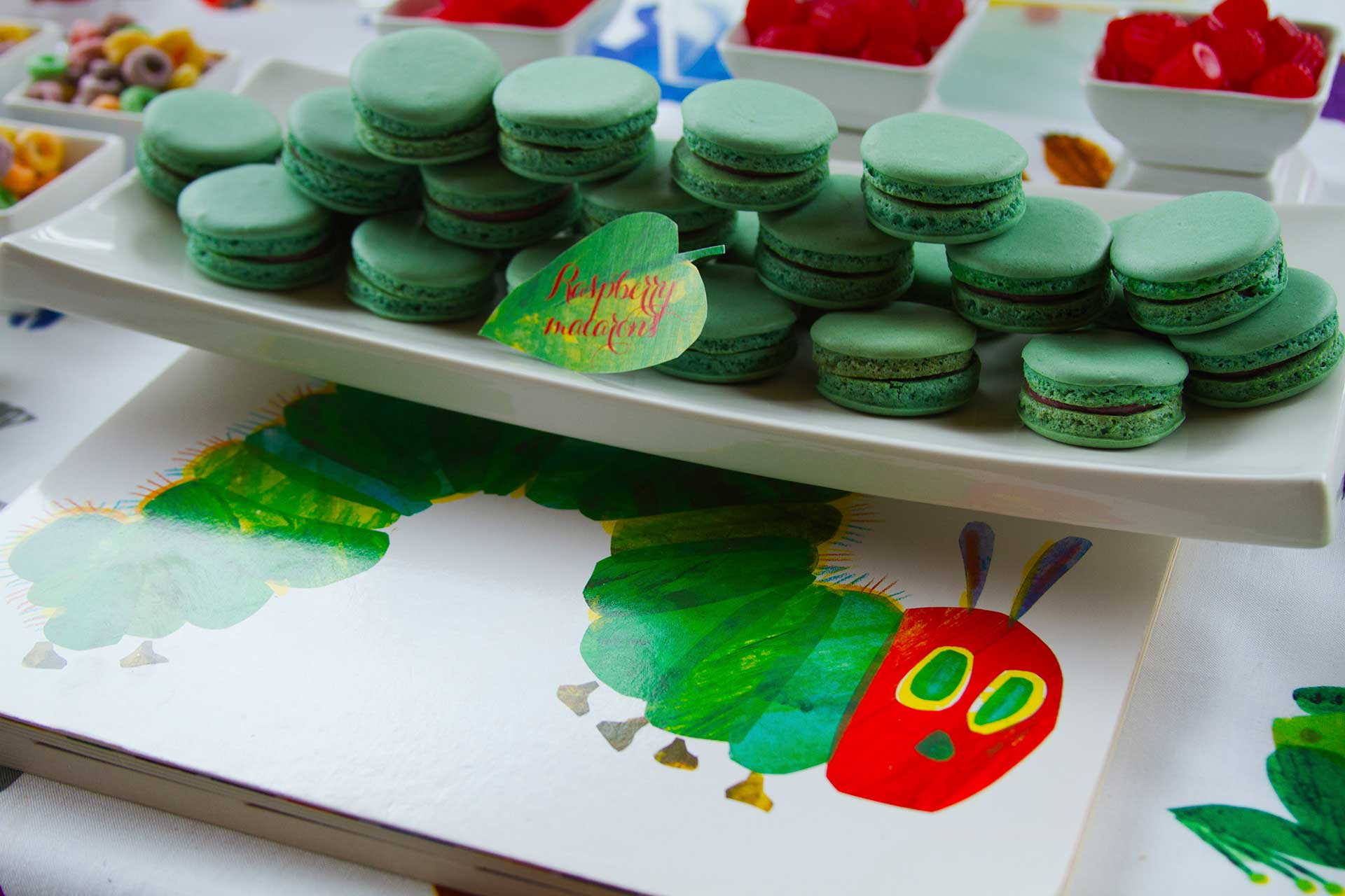 kids birthday party Toronto - sweet table - very hungry caterpillar theme