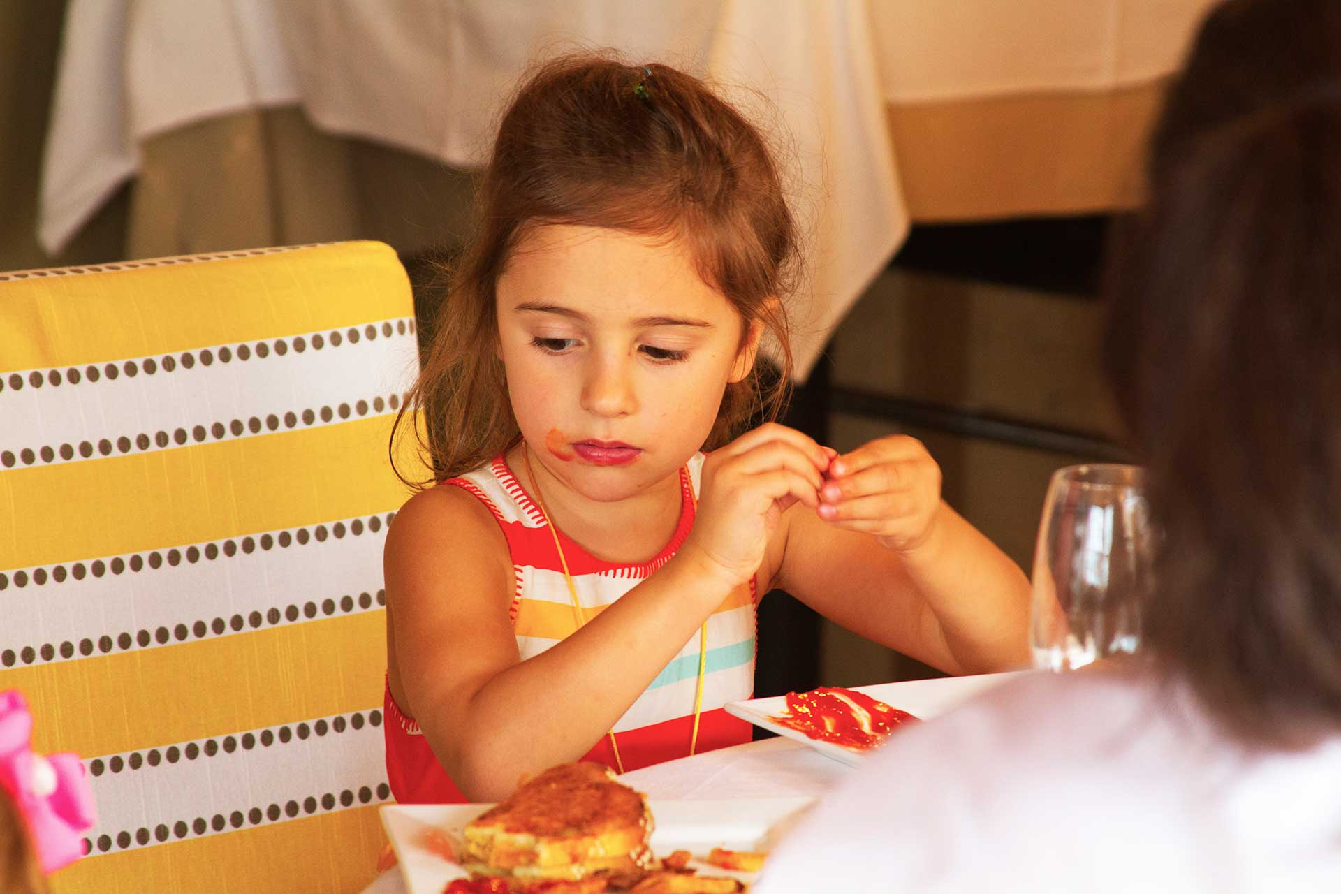kids birthday party Toronto - outdoor rooftop terrace - sit-down lunch