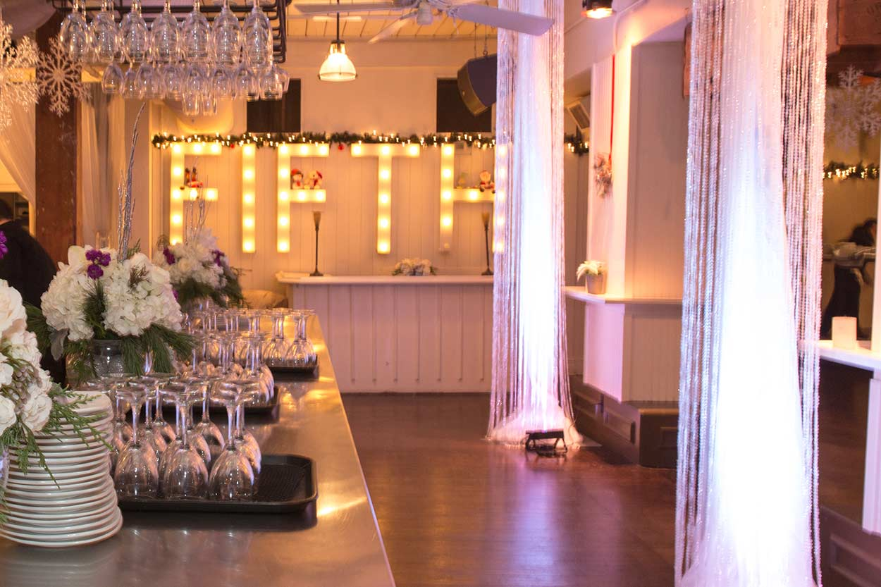 Large Corporate Event Venues Toronto - Holiday Party - Cocktail Bar Area
