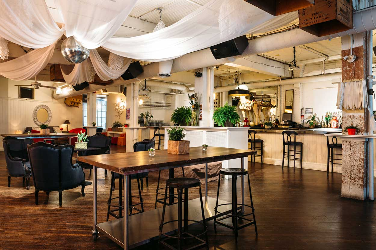 Large Corporate Event Venues Toronto - Urban Loft Space with Bar