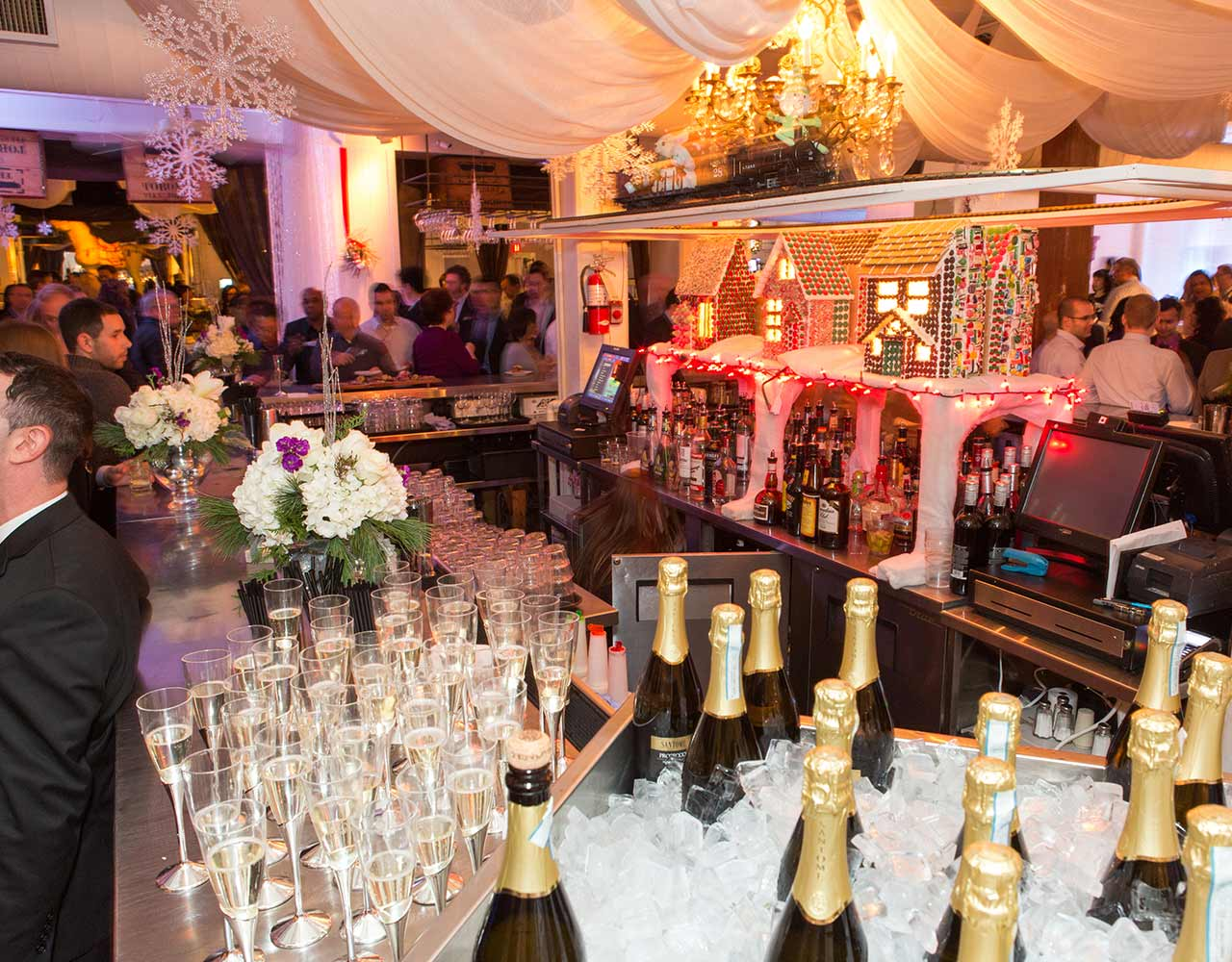 Corporate Holiday Reception with Food Station Toronto Event Venue